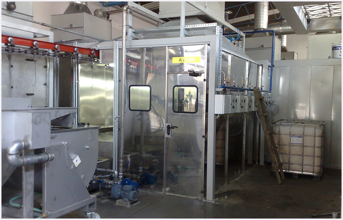 Spray Booths wet coating
