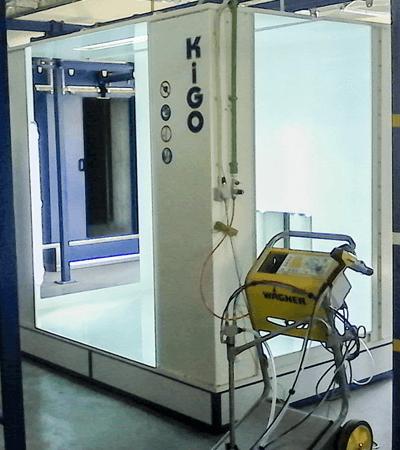 Καμπίνα Ηλεκτροστατικής βαφής PCBS2500