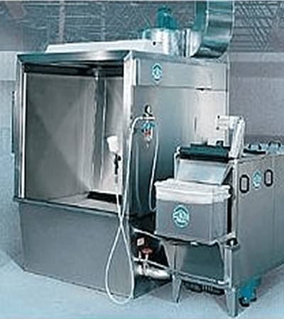 Spray booth with waterfall Type 5658