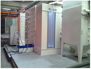 movable powder coating plant
