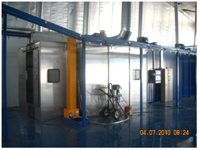 automatic wet coating booth
