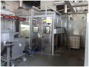 wet coating plant
